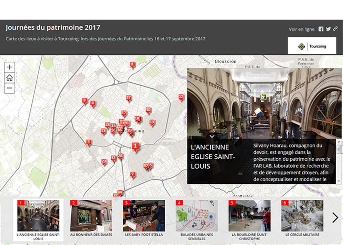 Carte Journée du Patrimoine 2017