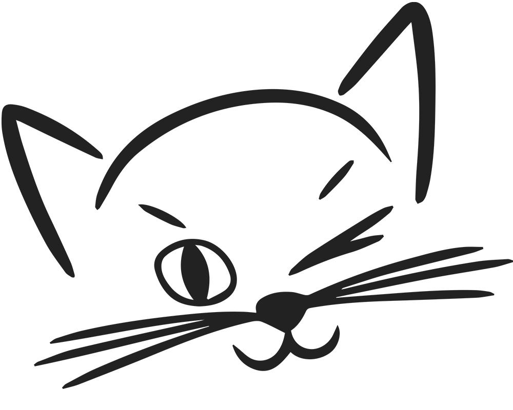 Картинки мордочек кошек нарисованные